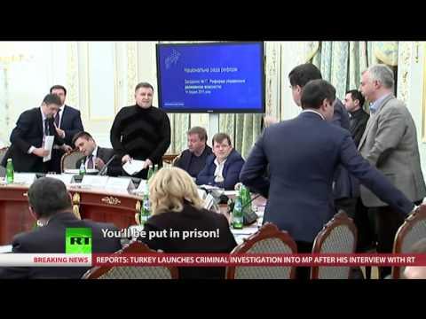 'Thief!' 'Bastard!' Highest level brawl at Ukraine govt session