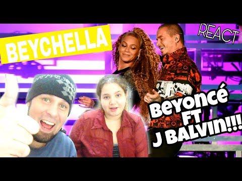REAGINDO: BEYONCÉ COACHELLA FT J BALVIN - MI GENTE  REACT