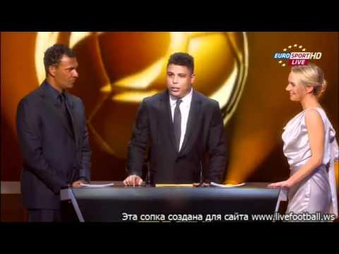 Ronaldo Gives The Fifa Ballon Dor Gala  Lionel Messi