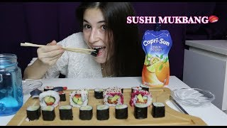 MY FIRST EVER SUSHI MUKBANG🍣 + MY 18TH BIRTHDAY🎉 ⎮ EATING SHOW
