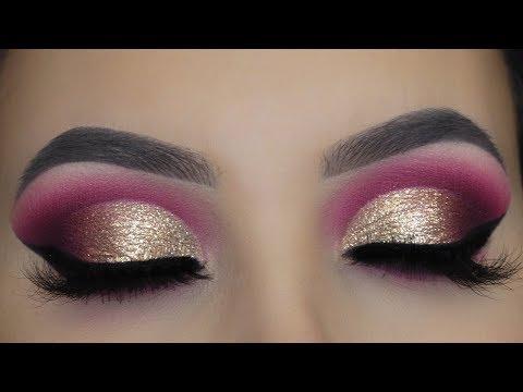 golden-glitter-cut-crease-tutorial-|-asian-bridal-makeup