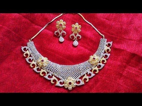 Indian Diamond Cut Necklace Set Designs