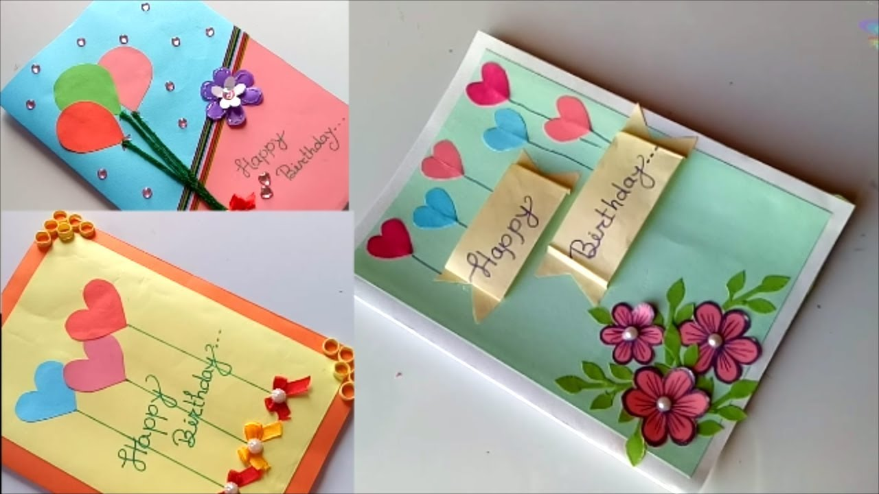 Beautiful Handmade Birthday Card Idea DIY Greeting Cards For Mukta Art Craft