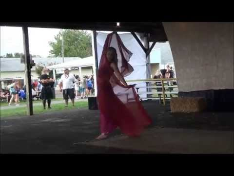 Dana solo bellydance performance at Wrightstown Ren Faire