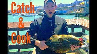 LEGAL Halibut! San Francisco California Fishing - Catch & Cook