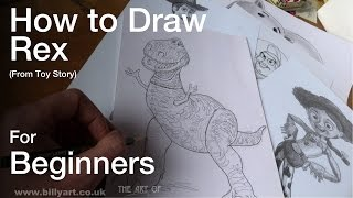 How to Draw Rex from Toy Story for Beginners