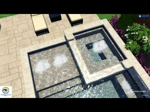 Pool Contractors Dallas | Traditional Pool with Slide and Spa