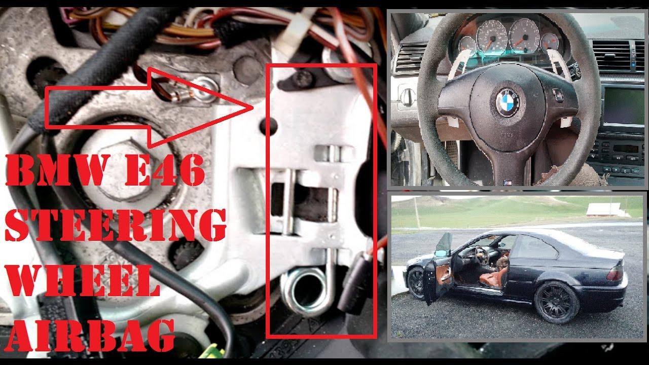 bmw steering wheel horn airbag removal e46 m3 smg paddle. Black Bedroom Furniture Sets. Home Design Ideas