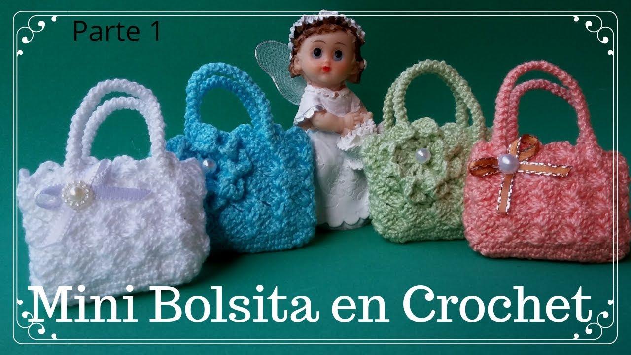 8f6f91fa2 Mini BolsitaTejida a Crochet /Ideal para el Dia de la madre/PARTE 1
