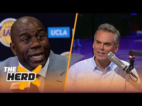 Magic Johnson is being investigated for tampering with Paul George - Colin Cowherd reacts | THE HERD