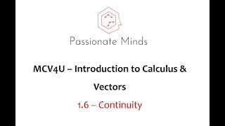 MCV4U/Grade 12 Calculus & Vectors - 1.6 Continuity