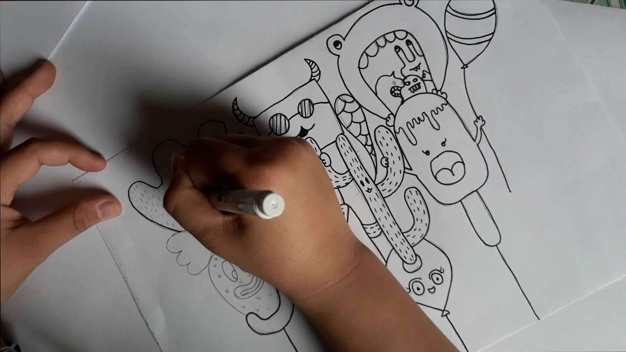 Doodle tutorial | Hướng dẫn vẽ doodle 2