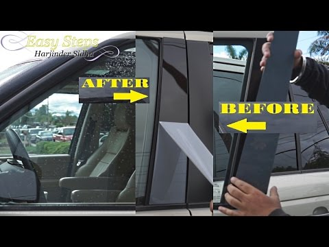 How to Restore Faded Door Pillar Trims on Range Rover | Window Trims | Glossy Finish