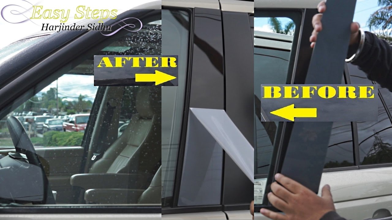 How To Replace Faded Door Pillar Trims On Range Rover