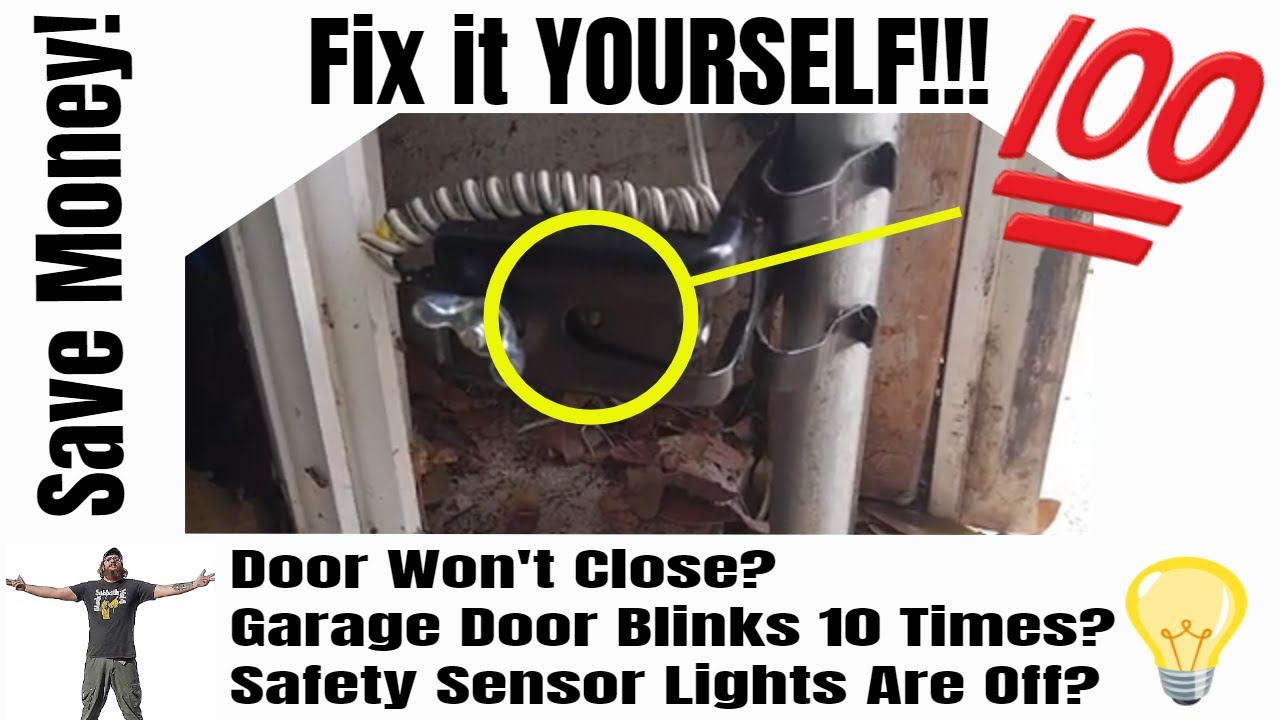 Chamberlain Garage Door Opener Clicks 10 Times Won T Close The Door Check This Common Problem Youtube