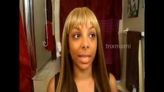 Motown Tress Fergie - R27/24/4 on Caramel Skin - Styling