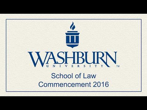 Washburn University | 2016 School of Law Commencement