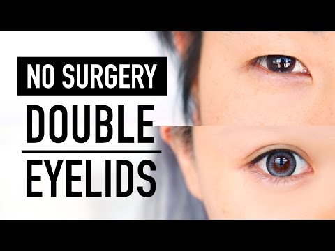 No Surgery Double Eyelid Tape Glue & Fibre Tutorial ♥ 3 Products B&A Monolid & Hooded Lid ♥ Wengie