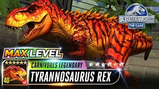 【Jurassic World the Game 侏羅紀世界遊戲】Max level Legendary Carnivores Tyrannosaurus Rex Trex 霸王龙