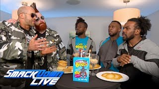 The Bar interrupt The New Day's candlelight pancake dinner: SmackDown LIVE, April 24, 2018