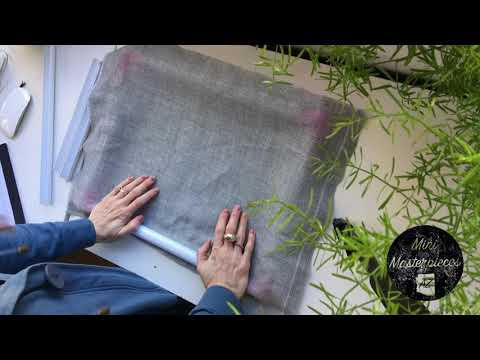 Putting Fabric on a Snap Frame for punch needle or embroidery