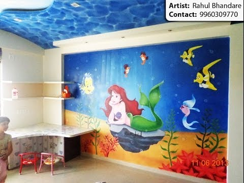 cartoon painting kids bedroom wall painting artist in pune