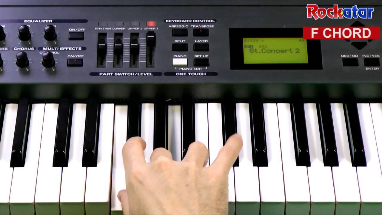 F chord on Keyboard