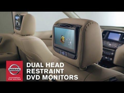 Dual Head Restraint DVD Monitors | Genuine Nissan Accessories