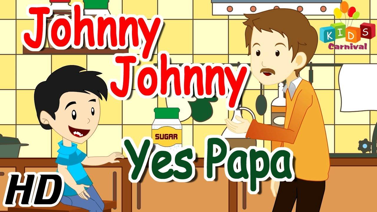 Johny johny yes papa nursery rhyme 3d animation english rhymes.