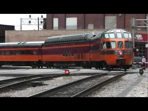 Amtrak's 'Empire Builder' Departing Chicago with Milwaukee Road Hiawatha Cars, 22.07.12