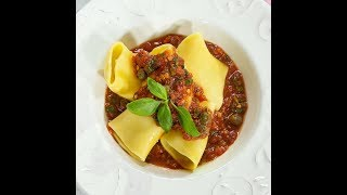 Paccheri Pasta with Capers and Tomato Sauce