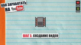 Как заработать на YouTube Шаг 3. Создание видео.