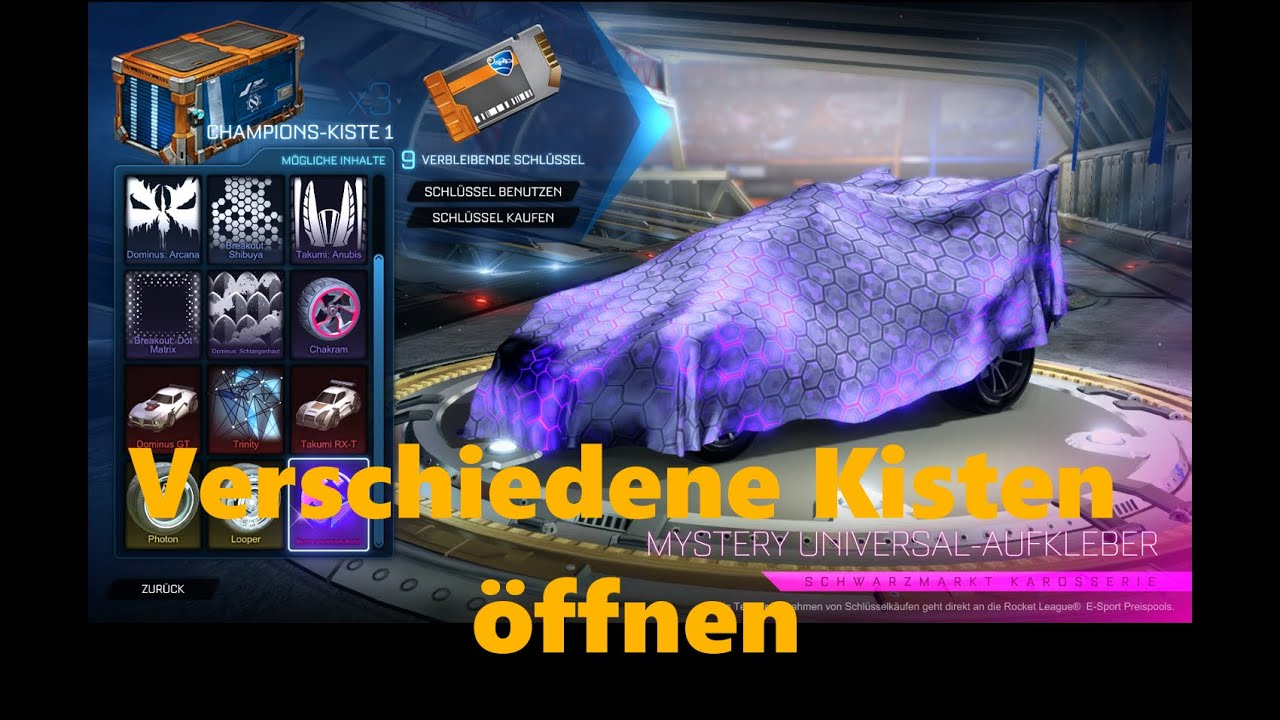 Rocket League Kisten