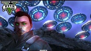 GTA V Online - LA INVASIÓN ALIEN MAS GIGANTESCA! - Escuadrón 17- NexxuzHD