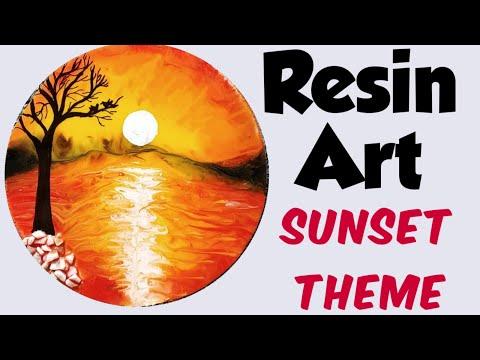 Resin Art/ Sunset Theme/ Coaster