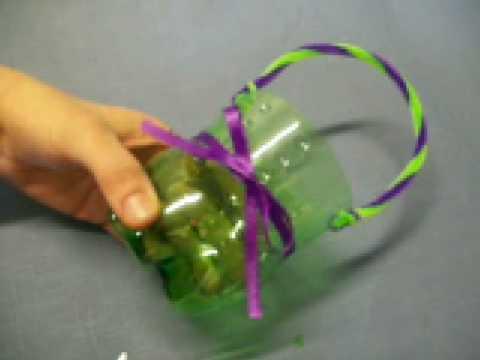 Flower Basket By Oneminutecrafts Com Youtube