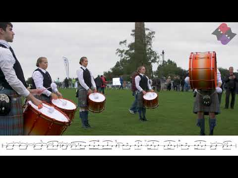 Boghall & Bathgate Pipe Band Drum Corps Full MSR Led By Gordon Brown 2018 Worlds