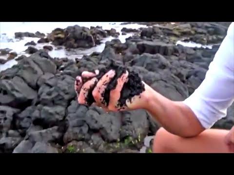 Punaluu Black Sand Beach, Big Island Hawaii