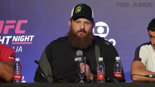 Roy Nelson explains why he got so upset at referee at UFC Fight Night 95.