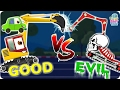 Excavator War | Good Vs Evil | Scary Heavy Vehicles | Halloween Videos For Kids