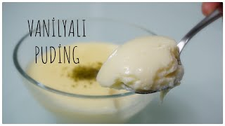 Nefis vanilyalı puding/sütlü tatlı  muhallebi tarifi /tatlı tarifler / Figen Ararat