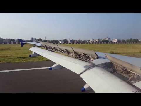 Landing at Jaipur International Airport -Rajasthan India