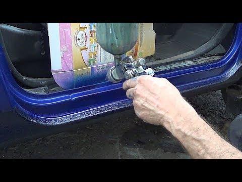 Покраска и ремонт порогов. Нива Шевроле, на фоне  SEAT Тoledo
