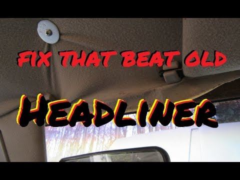 How to REPLACE YOUR HEADLINER cheap and easy!
