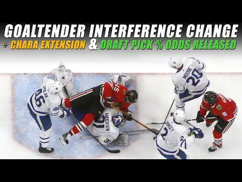 Goaltender Interference Change, Chara Extension, Draft Pick % Released