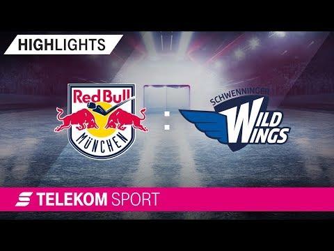 EHC Red Bull München – Schwenninger Wild Wings | 12. Spieltag, 18/19 | Telekom Sport