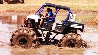 BIG SXS'S AND UTV VEHICLES PLAY IN THE MUD thumbnail