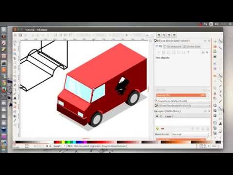 Inkscape Isometric Cars Tutorial