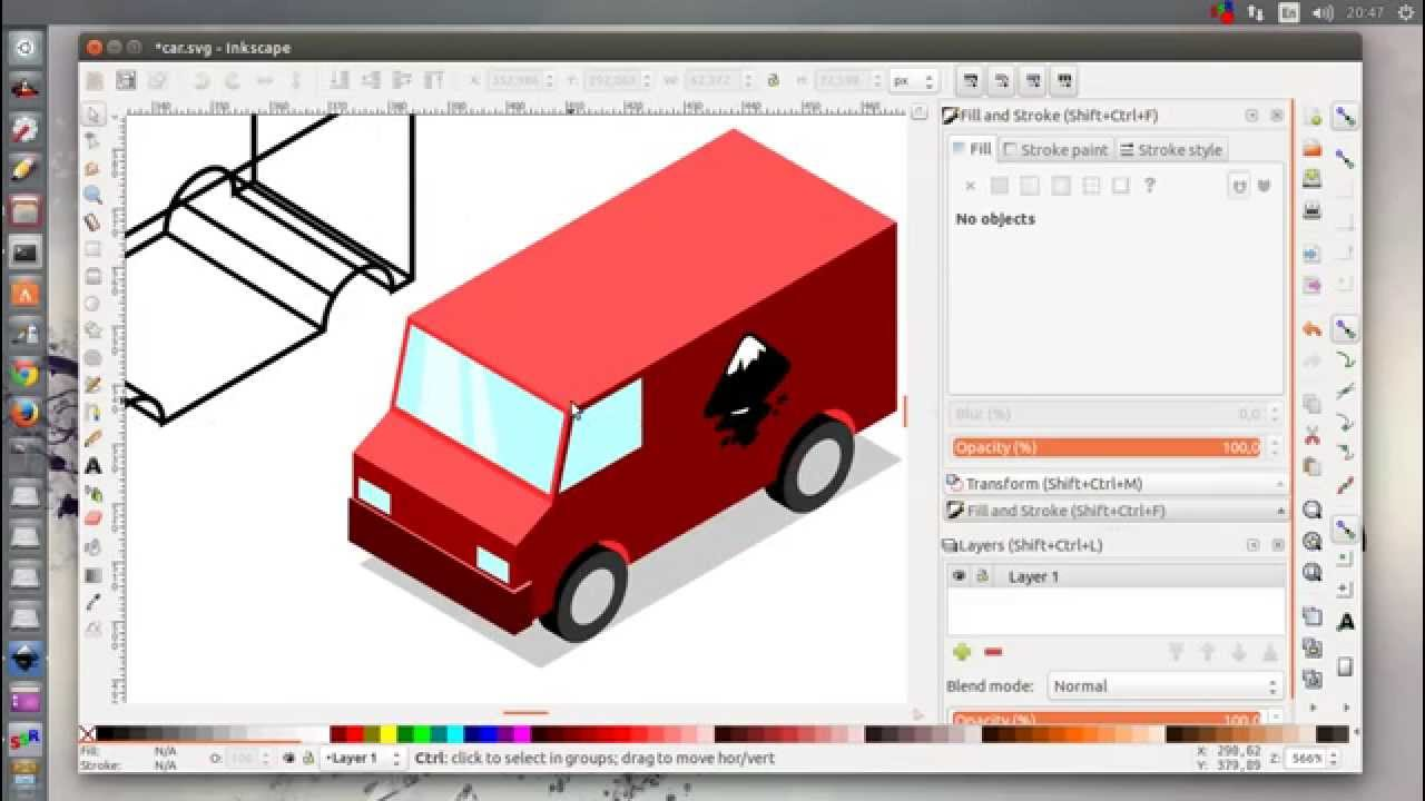 Inkscape Character Design Tutorial : Inkscape isometric cars tutorial youtube