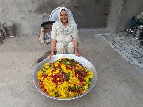 sweet-rice-recipe-prepared-by-granny-|-sweet-rice-making-for-homeless-kids-|-veg-village-food